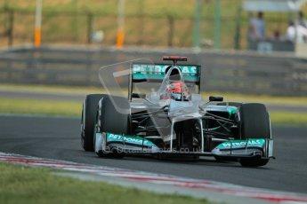 © 2012 Octane Photographic Ltd. Hungarian GP Hungaroring - Saturday 28th July 2012 - F1 Practice 3. Mercedes W03 - Michael Schumacher. Digital Ref : 0429lw1d6783