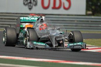© 2012 Octane Photographic Ltd. Hungarian GP Hungaroring - Saturday 28th July 2012 - F1 Practice 3. Mercedes W03 - Michael Schumacher. Digital Ref : 0429lw1d6919