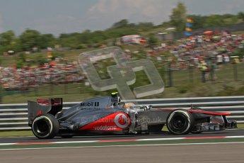 © 2012 Octane Photographic Ltd. Hungarian GP Hungaroring - Friday 27th July 2012 - F1 Practice 2. McLaren MP4/27 - Lewis Hamilton. Digital Ref : 0429lw7d6073
