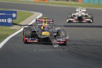 © 2012 Octane Photographic Ltd. Hungarian GP Hungaroring - Saturday 28th July 2012 - F1 Practice 3. Red Bull RB8 - Mark Webber. Digital Ref : 0429lw7d6655