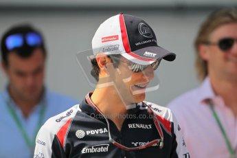 © 2012 Octane Photographic Ltd. Hungarian GP Hungaroring - Sunday 29th July 2012 - F1 Paddock. Williams - Bruno Senna. Digital Ref : 0437lw1d7533