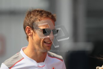 © 2012 Octane Photographic Ltd. Hungarian GP Hungaroring - Sunday 29th July 2012 - F1 Paddock. McLaren - Jenson Button. Digital Ref : 0437lw1d7559