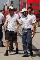 © 2012 Octane Photographic Ltd. Hungarian GP Hungaroring - Sunday 29th July 2012 - F1 Paddock. HRT - Pedro de La Rosa. Digital Ref : 0437lw7d8307