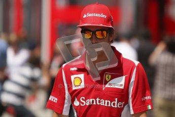 © 2012 Octane Photographic Ltd. Hungarian GP Hungaroring - Sunday 29th July 2012 - F1 Paddock. Ferrari - Fernando Alonso. Digital Ref : 0437lw7d8307