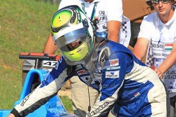 © 2012 Octane Photographic Ltd. Hungarian GP Hungaroring - Saturday 27th July 2012 - GP3 Paddock. Atech CRS Grand Prix - Tamas Pal Kiss. Digital Ref : 0424cb7d9560