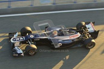 © 2012 Octane Photographic Ltd. Jerez Winter Test Day 1 - Tuesday 7th February 2012. Williams FW34 - Pastor Maldonado. Digital Ref : 0217lw7d2978