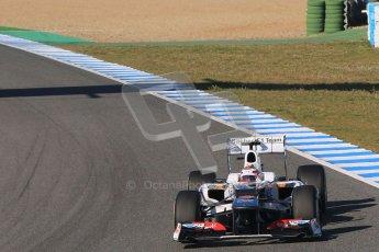© 2012 Octane Photographic Ltd. Jerez Winter Test Day 1 - Tuesday 7th February 2012. Sauber C31 - Kamui Kobayashi. Digital Ref : 0217lw7d3462