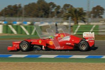 © 2012 Octane Photographic Ltd. Jerez Winter Test Day 1 - Tuesday 7th February 2012. Ferrari F2012 - Felipe Massa. Digital Ref : 0217lw7d3623