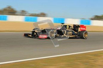 © 2012 Octane Photographic Ltd. Jerez Winter Test Day 1 - Tuesday 7th February 2012. Lotus E20 - Kimi Raikkonen. Digital Ref : 0217lw7d3729