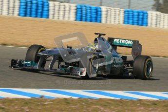 © 2012 Octane Photographic Ltd. Jerez Winter Test Day 1 - Tuesday 7th February 2012. Mercedes MGP W02 - Nico Rosberg. Digital Ref : 0217lw7d3799