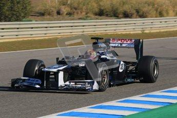 © 2012 Octane Photographic Ltd. Jerez Winter Test Day 1 - Tuesday 7th February 2012. Williams FW34 - Pastor Maldonado. Digital Ref : 0217lw7d4059