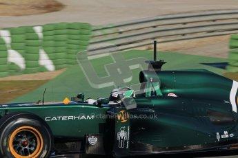 © 2012 Octane Photographic Ltd. Jerez Winter Test Day 1 - Tuesday 7th February 2012. Caterham CT01 - Heikki Kovalainen. Digital Ref : 0217lw7d4096