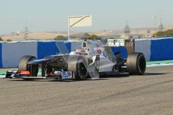 © 2012 Octane Photographic Ltd. Jerez Winter Test Day 1 - Tuesday 7th February 2012. Sauber C31 - Kamui Kobayashi. Digital Ref : 0217lw7d4246