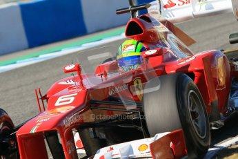 © 2012 Octane Photographic Ltd. Jerez Winter Test Day 1 - Tuesday 7th February 2012. Ferrari F2012 - Felipe Massa. Digital Ref : 0217lw7d4269