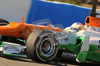 © 2012 Octane Photographic Ltd. Jerez Winter Test Day 1 - Tuesday 7th February 2012. Force India VJM05 - Paul di Resta. Digital Ref : 0217lw7d4283