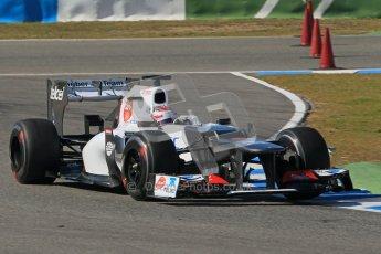 © 2012 Octane Photographic Ltd. Jerez Winter Test Day 1 - Tuesday 7th February 2012. Sauber C31 - Kamui Kobayashi. Digital Ref : 0217lw7d4640