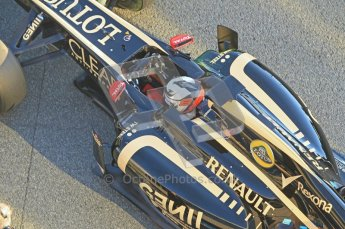 © 2012 Octane Photographic Ltd. Jerez Winter Test Day 2 - Wednesday 8th February 2012. Lotus E20 - Kimi Raikkonen. Digital Ref : 0218lw1d4963