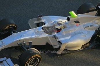 © 2012 Octane Photographic Ltd. Jerez Winter Test Day 2 - Wednesday 8th February 2012. HRT F111 - Pedro de la Rosa. Digital Ref : 0218lw1d5007