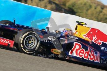 © 2012 Octane Photographic Ltd. Jerez Winter Test Day 2 - Wednesday 8th February 2012. Red Bull RB8 - Mark Webber. Digital Ref : 0218lw1d5257