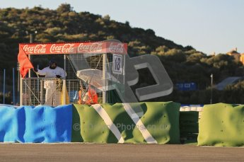 © 2012 Octane Photographic Ltd. Jerez Winter Test Day 2 - Wednesday 8th February 2012. Atmosphere - Red Flagged. Digital Ref : 0218lw1d5335