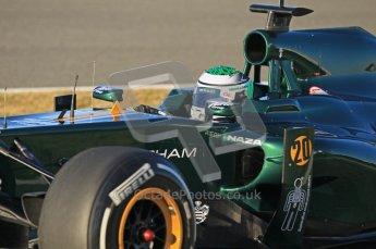 © 2012 Octane Photographic Ltd. Jerez Winter Test Day 2 - Wednesday 8th February 2012. Caterham CT01 - Heikki Kovalainen. Digital Ref :  0218lw1d5340