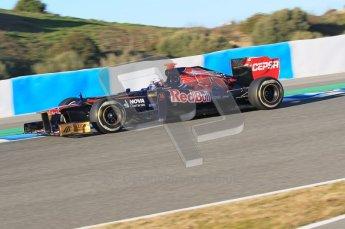 © 2012 Octane Photographic Ltd. Jerez Winter Test Day 2 - Wednesday 8th February 2012. Toro Rosso STR7 - Daniel Ricciardo. Digital Ref : 0218lw1d5399