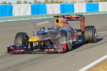 © 2012 Octane Photographic Ltd. Jerez Winter Test Day 2 - Wednesday 8th February 2012. Red Bull RB8 - Mark Webber. Digital Ref : 0218lw1d5434