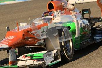 © 2012 Octane Photographic Ltd. Jerez Winter Test Day 2 - Wednesday 8th February 2012. Force India VJM05 - Jules Bianchi. Digital Ref : 0218lw1d5457