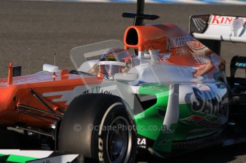 © 2012 Octane Photographic Ltd. Jerez Winter Test Day 2 - Wednesday 8th February 2012. Force India VJM05 - Jules Bianchi. Digital Ref : 0218lw1d5459