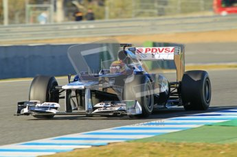 © 2012 Octane Photographic Ltd. Jerez Winter Test Day 2 - Wednesday 8th February 2012. Williams FW34 - Pastor Maldonado. Digital Ref : 0218lw1d5587