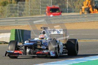 © 2012 Octane Photographic Ltd. Jerez Winter Test Day 2 - Wednesday 8th February 2012. Sauber C31 - Sergio Perez. Digital Ref :  0218lw1d5646