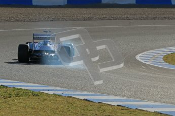 © 2012 Octane Photographic Ltd. Jerez Winter Test Day 2 - Wednesday 8th February 2012. Williams FW34 - Pastor Maldonado. Digital Ref : 0218lw1d5710