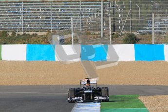 © 2012 Octane Photographic Ltd. Jerez Winter Test Day 2 - Wednesday 8th February 2012. Williams FW34 - Pastor Maldonado. Digital Ref : 0218lw1d5786