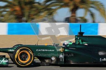 © 2012 Octane Photographic Ltd. Jerez Winter Test Day 2 - Wednesday 8th February 2012. Caterham CT01 - Heikki Kovalainen. Digital Ref : 0218lw1d6009