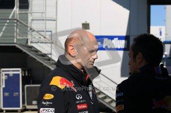 © 2012 Octane Photographic Ltd. Jerez Winter Test Day 2 - Wednesday 8th February 2012. Red Bull. Adrian Newey. Digital Ref : 0218lw1d6062