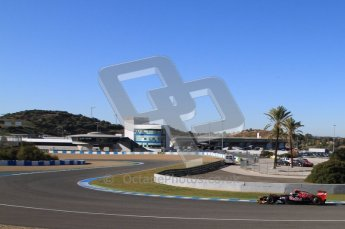 © 2012 Octane Photographic Ltd. Jerez Winter Test Day 2 - Wednesday 8th February 2012. Toro Rosso STR7 - Daniel Ricciardo. Digital Ref :  0218lw7d3593