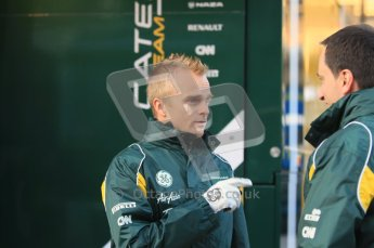 © 2012 Octane Photographic Ltd. Jerez Winter Test Day 3 - Thursday 9th February 2012. Caterham F1 team - Heikki Kovalainen. Digital Ref : 0219lw1d6085