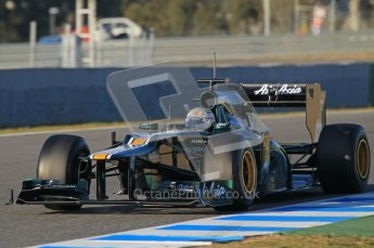 © 2012 Octane Photographic Ltd. Jerez Winter Test Day 3 - Thursday 9th February 2012. Caterham CT01 - Giedo van der Garde. Digital Ref : 0219lw1d6567