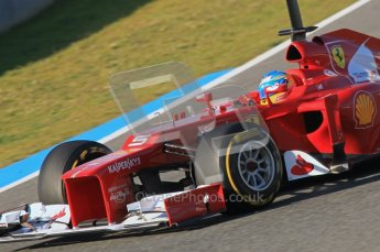 © 2012 Octane Photographic Ltd. Jerez Winter Test Day 3 - Thursday 9th February 2012. Ferrari F2012 - Fernando Alonso. Digital Ref : 0219lw1d6705