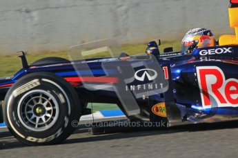 © 2012 Octane Photographic Ltd. Jerez Winter Test Day 3 - Thursday 9th February 2012. Red Bull RB8 - Sebastian Vettel. Digital Ref : 0219lw1d6935