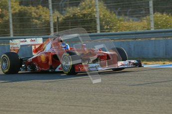© 2012 Octane Photographic Ltd. Jerez Winter Test Day 4 - Friday 10th February 2012. Ferrari F2012 - Fernando Alonso. Digital Ref : 0221lw1d8238