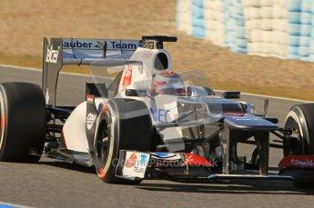 © 2012 Octane Photographic Ltd. Jerez Winter Test Day 4 - Friday 10th February 2012. Sauber C31 - Kamui Kobayashi. Digital Ref : 0221lw1d9456