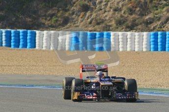 © 2012 Octane Photographic Ltd. Jerez Winter Test Day 4 - Friday 10th February 2012. Toro Rosso STR7 - Jean-Eric Vergne. Digital Ref : 0221lw1d9471