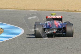 © 2012 Octane Photographic Ltd. Jerez Winter Test Day 4 - Friday 10th February 2012. Toro Rosso STR7 - Jean-Eric Vergne. Digital Ref : 0221lw1d9478