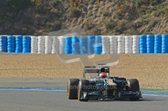 © 2012 Octane Photographic Ltd. Jerez Winter Test Day 4 - Friday 10th February 2012. Caterham CT01 - Jarno Trulli. Digital Ref : 0221lw1d9529