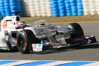 © 2012 Octane Photographic Ltd. Jerez Winter Test Day 4 - Friday 10th February 2012. Sauber C31 - Kamui Kobayashi. Digital Ref : 0221lw1d9724