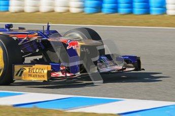 © 2012 Octane Photographic Ltd. Jerez Winter Test Day 4 - Friday 10th February 2012. Toro Rosso STR7 - Jean-Eric Vergne. Digital Ref : 0221lw1d9804