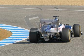 © 2012 Octane Photographic Ltd. Jerez Winter Test Day 4 - Friday 10th February 2012. Williams FW34 - Bruno Senna. Digital Ref : 0221lw1d9875
