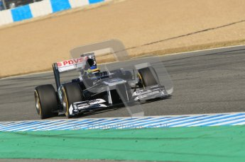 © 2012 Octane Photographic Ltd. Jerez Winter Test Day 4 - Friday 10th February 2012. Williams FW34 - Bruno Senna. Digital Ref : 0221lw1d9885