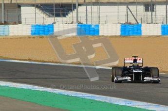 © 2012 Octane Photographic Ltd. Jerez Winter Test Day 4 - Friday 10th February 2012. Williams FW34 - Bruno Senna. Digital Ref : 0221lw1d9901